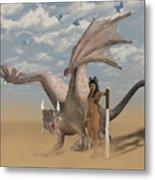 Dragon And Master Metal Print