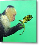 Dragon And Monkey Metal Print