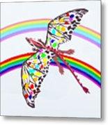 Dragon And Rainbow Metal Print