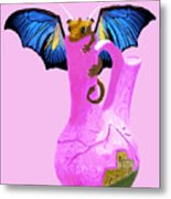 Dragon And Vase Metal Print