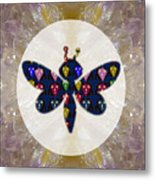 Dragon Fly Cute Painted Face Cartons All Over Donwload Option Link Below Personl N Commercial Uses Metal Print