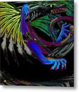 Dragon Flying Metal Print