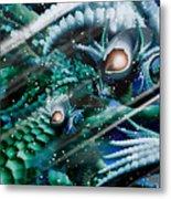 Dragon Home... Snow Day Metal Print