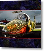Dragon Jet Metal Print