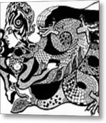 Dragon Lady Metal Print