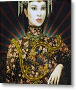 Dragon Smoke Metal Print by Jane Whiting Chrzanoska