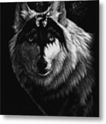 Dragon Wolf Metal Print by Stanley Morrison