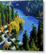 Dragonflight Over The Spokane River Metal Print