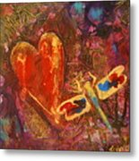 Dragonfly Heart Metal Print