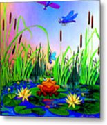 Dragonfly Pond Metal Print by Hanne Lore Koehler