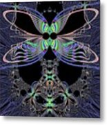 Dragonfly Queen At Midnight Fractal 161 Metal Print