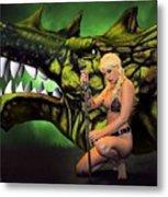 Dragon's Bane Color Metal Print