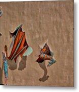 Dragons In The Railyard - Santa Fe #2 Metal Print