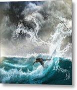 Dragon's Soul Surfer Metal Print