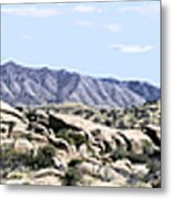 Dragoon Mountains Panorama Metal Print