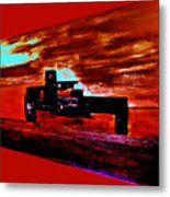 Dragster At The Strip Metal Print