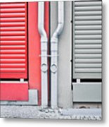 Drain Pipes Metal Print