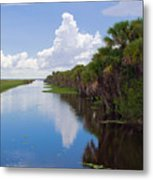 Drainage Canals Make Farming Possible In Florida Metal Print