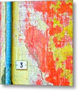 Drainpipe Amazing Wall And Number Three Metal Print