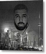 Drake 6 God Metal Print