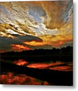 Drama In The Sky At The Sunset Hour Metal Print