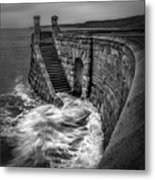 Drama Of The Sea Metal Print