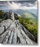Dramatic Blue Ridge Mountain Scenic Metal Print