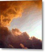 Dramatic Cloud Painting Metal Print