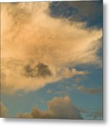 Dramatic Clouds In The Sky Resting Metal Print