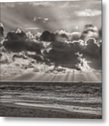 Dramatic Dutch Coast Metal Print