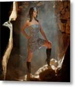 Dramatic Fashion Pose Metal Print