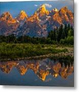 Dramatic Grand Teton Sunrise Metal Print