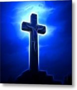 Dramatic Jesus Crucifixion Metal Print by Pamela Johnson