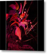 Dramatic Red Flowers Metal Print