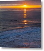 Dramatic Ocean Reflection Of Color Metal Print