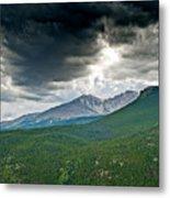 Dramatic Skies In Rocky Mountain National Park Colorado Metal Print