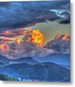 Dramatic Sky And Clouds Metal Print