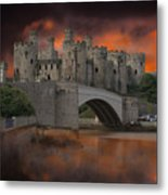 Dramatic Sky Over Castell Conwy Metal Print