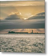 Dramatic Sky Over Hurst Castle Metal Print