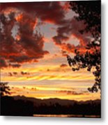 Dramatic Sunset Reflection Metal Print