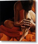 Draped In Orange Metal Print