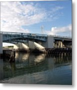 Drawbridge At Port Canaveral In Florida Metal Print