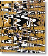 Drawing Composition Abstract Metal Print