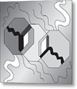 Drawn2shapes7bnw Metal Print