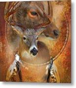 Dream Catcher - Autumn Deer Metal Print