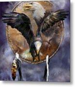 Dream Catcher - Spirit Eagle 3 Metal Print