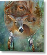Dream Catcher - Spirit Of The Deer Metal Print