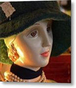 Dream Girl With Hat And Pearls Metal Print