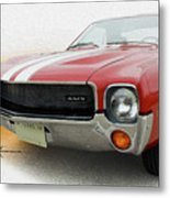 Amx Leaning-in Metal Print