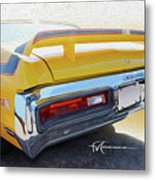 Screamin' Yellow Buick Metal Print